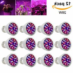 4Pcs 28W LED Grow Light E27 Lamp Bulb for Garden Plant Hydro