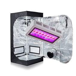 "TopoGrow LED 300W Grow Light kit W16""x16""x48"" 600D Grow Tent"