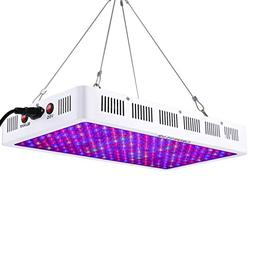 Growstar 1000W LED Grow Light Optical Lens, 12-Band Full Spe