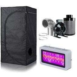 BloomGrow 300W LED Grow Light+High Reflective 600D Mylar Gro