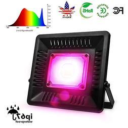 75W LED Grow Light Full Spectrum, Relassy Waterproof COB LED