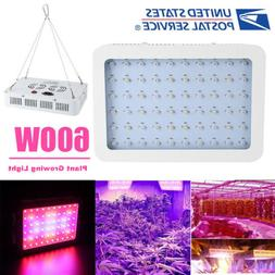 BESTVA 1200W LED Grow Light Full Spectrum Grow Lamp with IR&