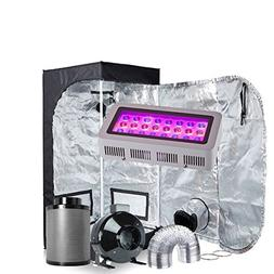 Oppolite LED Grow Light Tent Kit Hydroponic Growing System L