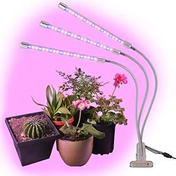 BriteLabs LED Grow Lights for Indoor Plants, Triple Head Pla