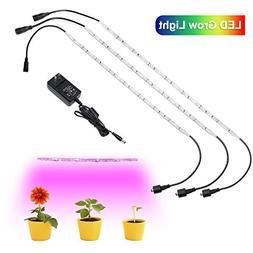 YGS-Tech 18W LED Grow Lights, 3Pcs 1.6ft/Strip Waterproof Fl
