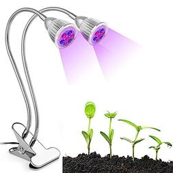 Aunifun LED Grow Lights Plant Grow Lamps 10W Red and Blue LE