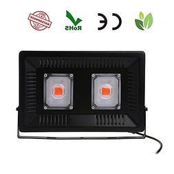 LED Grow Lights,Teepao Full Spectrum 100W COB Waterproof IP6