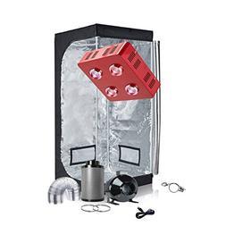 TopoGrow LED Grow Tent Complete Kit LED 800W COB LED Grow Li