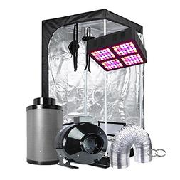"""TopoGrow Grow Tent Kit LED 600W Panel Grow Light Kit +36""""X36"""