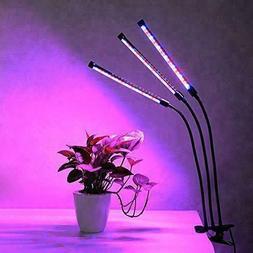 Three Head Grow Lights 18W 360°Control Adjustable Gooseneck