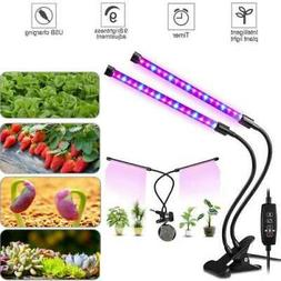 Grow Light Plant 2 Head Growing Lamp Lights 40W Timing 36 LE