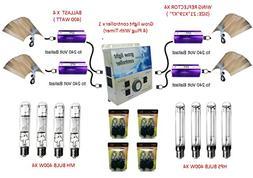 SPL Horticulture 400 Watt Grow Light Digital Dimmable HPS MH