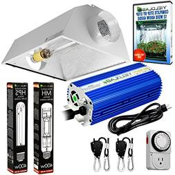 Yield Lab Horticulture 600w HPS MH Grow Light Cool Hood Refl