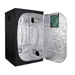 "60""x60""x78"" Hydroponic Grow Tent High-Refective 600D Mylar R"
