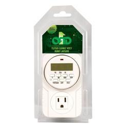 GRO1 Hydroponic 115V Single Outlet Digital Timer