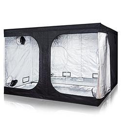 iPower GLTENTXL4 Grow Tent, 120X120X78 inch, Black Silver