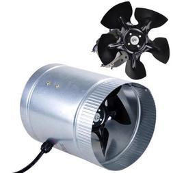 "6"" Inch 260 CFM Inline Duct Booster Vent Fan Blower Aluminum"