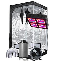 Oppolite Indoor Grow Tent Kit Complete Package LED 600W Grow