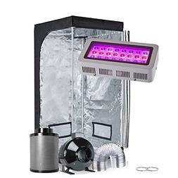 Oppolite Indoor Grow Tent Kit Complete Package LED 300W Grow