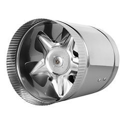 """6"""" Inline Fan - 240 CFM, Metal Duct Booster Fan, ETL Listed,"""