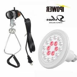 24W Full-Spectrum LED Grow Light Bulb w/ Clamp Lamp Light So