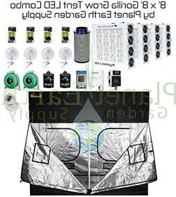 8' x 8' Gorilla Grow Tent Kit Black Dog LED PhytoMax-2 800