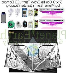 5' x 9' Gorilla Grow Tent Kit KIND LED DUAL XL1000 Combo Pac
