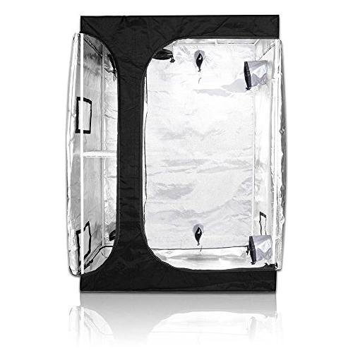 TopoGrow 2-in-1 Indoor Grow Tent 600D High-Reflective W/2-Tiered Propagation
