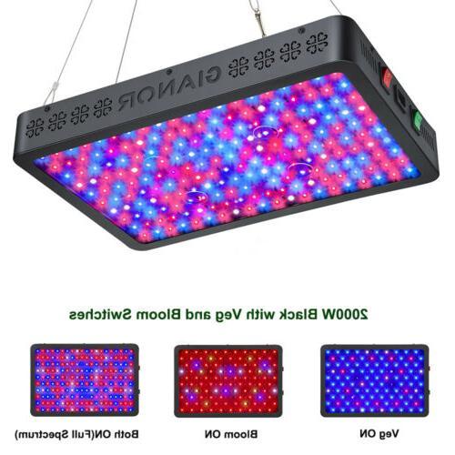 1000w 1200w watt led grow light lamp