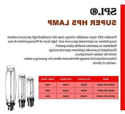 1000W 600W Watt MH/HPS Grow Wing for Ballast