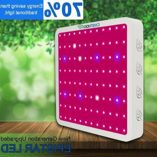 CASTNOO 1000W LED Grow Light Panel Lamp Full Spectrum Hydrop