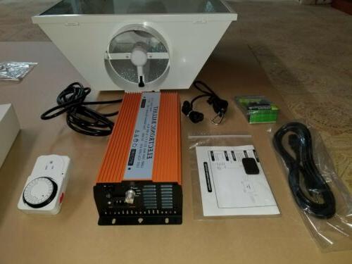 1000w Watt or MH Grow Light System 8Air Hood Kit Digital
