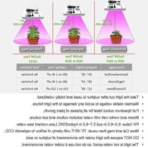 1200 W Light Full Spectrum Veg Bloom Flower Lamp