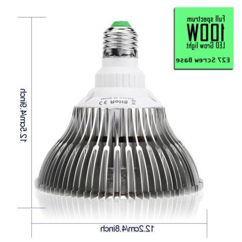 100W Grow Bulb E27 Plant Full for Hydroponics