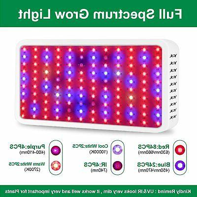 1200W LED Grow Light Full Spectrum Hydroponic Indoor Plant F
