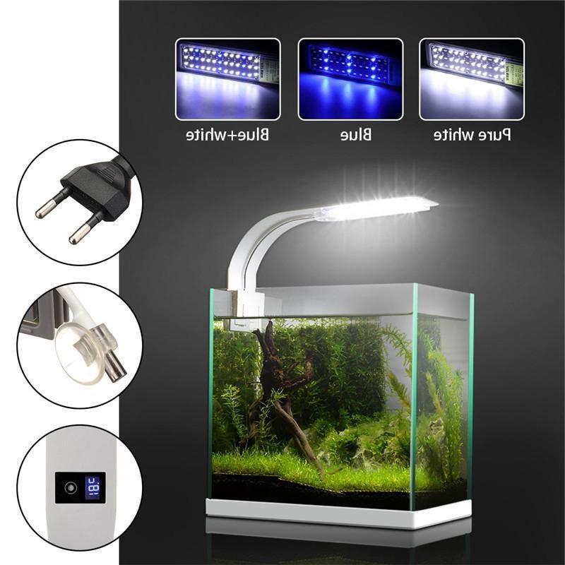 15W <font><b>Grow</b></font> Lamp For Aquarium Tank Luminary With <font><b>Thermometer</b></font>
