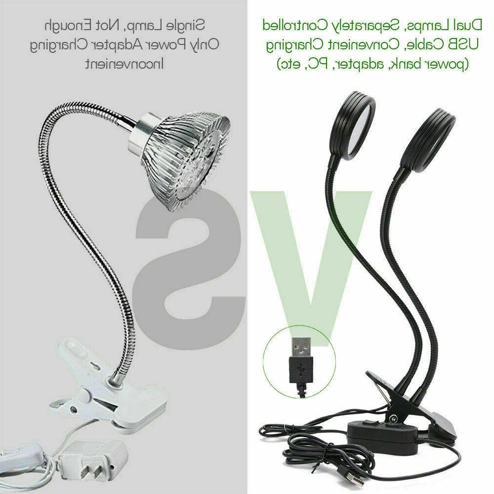 16W Head LED Grow Indoor Lamp USB