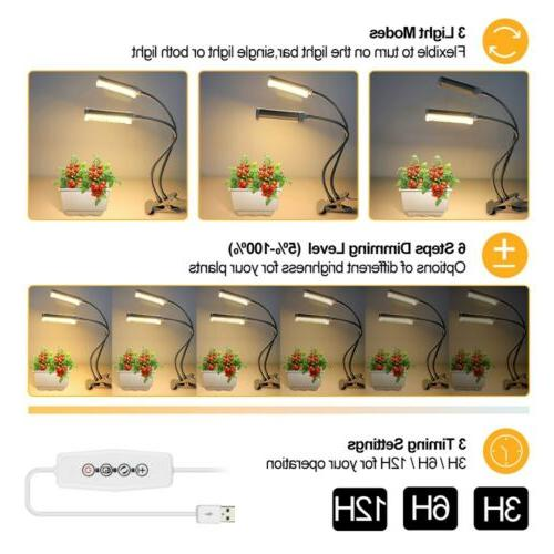 2 LED Grow Light Plant Lamp Lights Plants Hydroponics