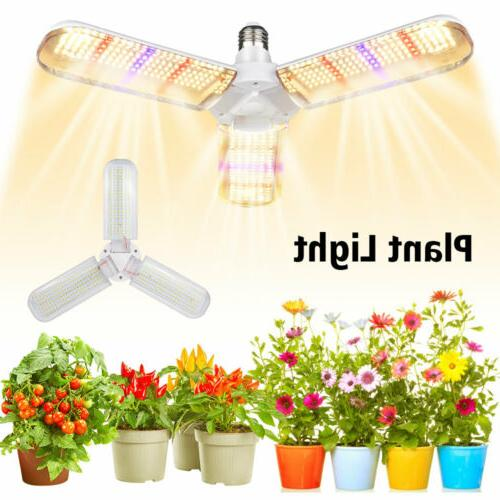 2 heads led grow light plant growing