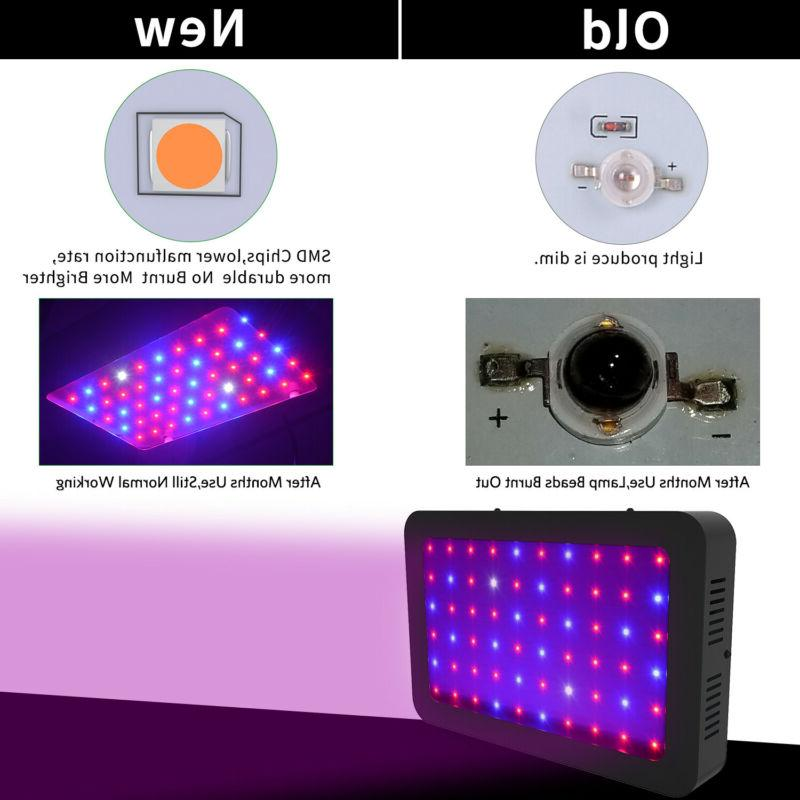 2000W 1500W Grow Light Full Spectrum VEG&Bloom Dual