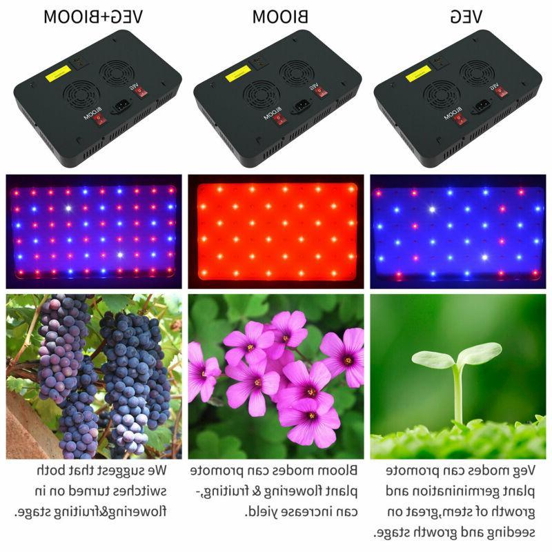 2000W 1000W LED Grow VEG&Bloom Switch