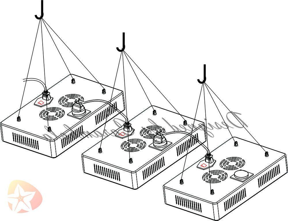 VANDER LED Grow Light Kits Spectrum IR Plant Medical VEG
