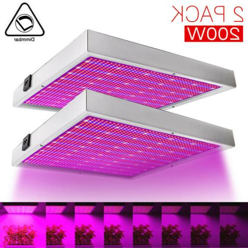 200w dimmable led grow light hydroponic full