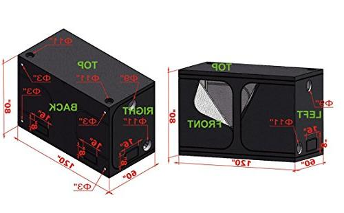 TopoGrow 2X1200W Light Kit+ Grow Fan&Filter&Ducting Combo Hydroponic Grow