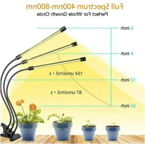 Indoor LED Plant Grow Light Sunlike Full Spectrum USB Timer