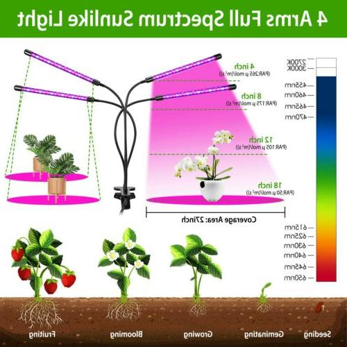 Grow Light for Indoor Plants LED Lamps with Timer