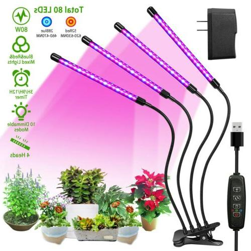 4 heads led grow light plant growing