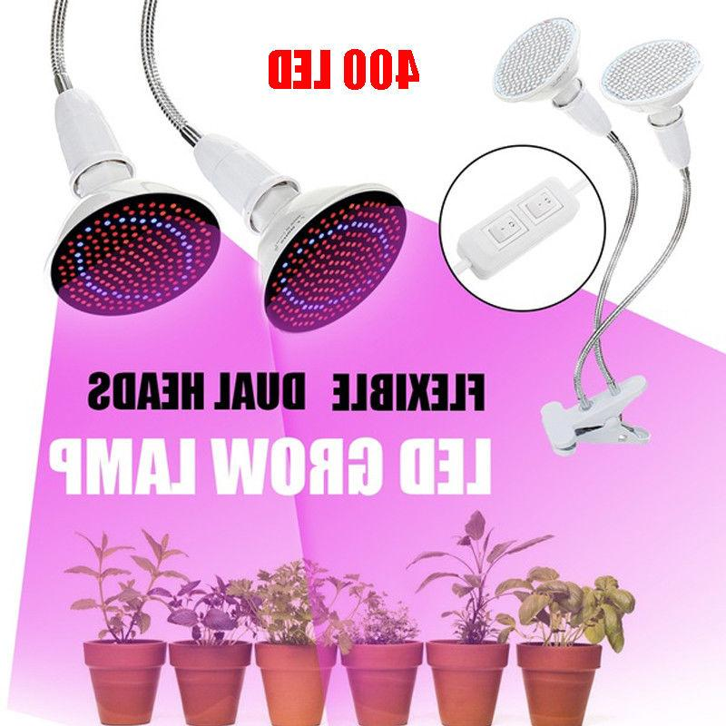 400/200 Leds Plant Grow Light Bulbs Clip Holder Flower Growi