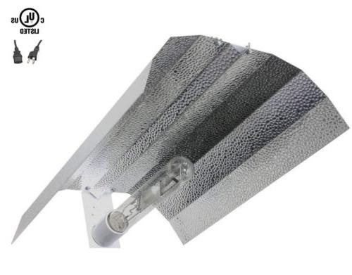 iPower MH Grow Light Tube Wing Reflector Hood Set
