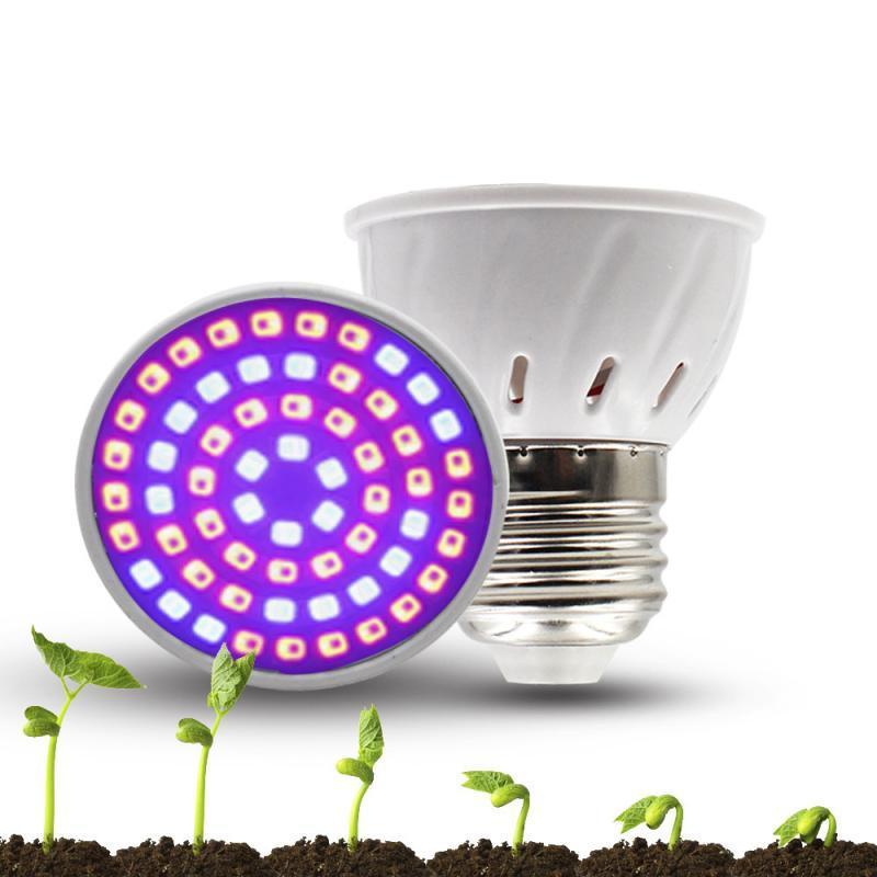 4W <font><b>Light</b></font> Full Plant Bulbs E27 E14 GU10 Lamps Bulbs 220V 110V